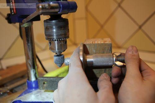 Обработка металла шарошкой